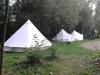 Unsere Zelte im Spreepark Beeskow