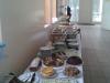 Leckere Kuchen- und Mittagstafel