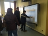 Mit dem Smartboard in action
