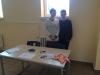 Unsere Schulleiterin mit Nico am Empfang