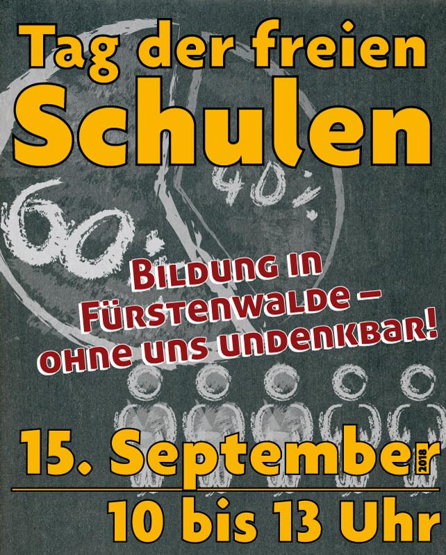 FAW_Tag der freien Schulen am 15. September 2018_Plakat